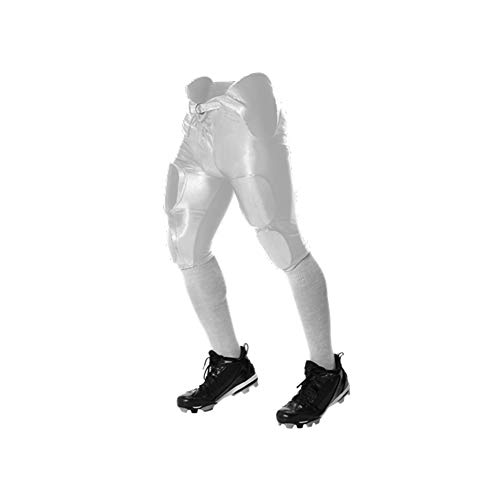 Youth Dazzle Football Pants w/ Pads White/M