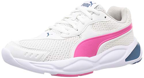 PUMA 90S Runner Mesh JR, Zapatillas, Blanco White/Glowing Pink/Digi/Blue/Gray Violet, 37 EU