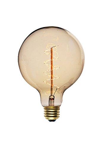 Filament Style G95 E Filament Bulb Globe 95 Clear, verre, 40 W, E27, transparent, 13,3 x 9,5 x 9,5 cm