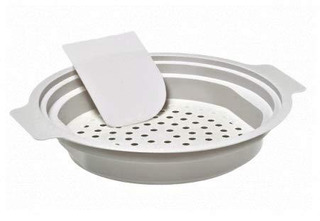 Spaetzle maker lid/Hungarian nokedli maker with scraper/German egg noodle maker round/ vegetable steamer