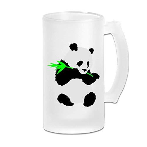 Nettes Panda-lustiges 16-Unzen-Milchglasstein-Weinbierbecher-Neuheitsgeschenk