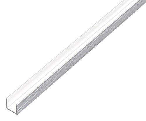 GAH-Alberts 488963 U-Profil | Aluminium, edelstahldesign, hell | 1000 x 10 x 15 mm