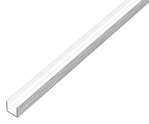 GAH-Alberts 488949 Perfil en U, Aluminio, 1000 x 10 x 10 mm
