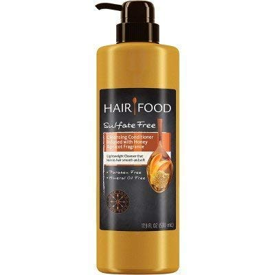 Hair Food Sulfate Free Cleansing Conditioner with Honey Apricot Fragrance, 17.9 Fluid Ounce