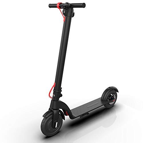 Patinete eléctrico con batería extraíble para adultos, deportes al aire libre, neumáticos de 8,5 pulgadas, alcance máx. 25 km, velocidad hasta 32 km/h, pantalla LCD, cuadro plegable