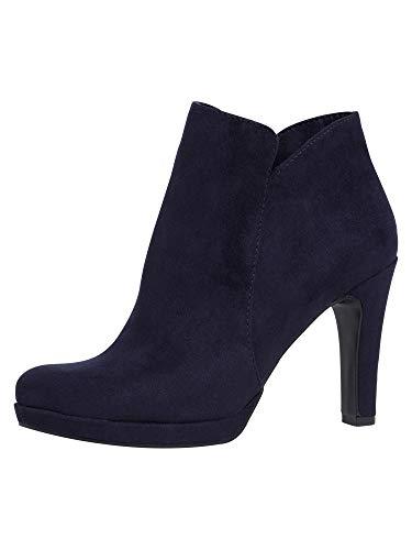 Tamaris Damen Ankle Boots, Frauen Stiefeletten,Touch It-Fußbett,Lady,Ladies,Women's,Woman,Stiefel,Kurzstiefel,Booties,weiblich,Navy,37 EU / 4 UK