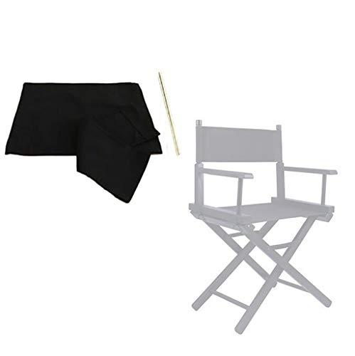 YTYZD Cubiertas del Asiento de Lona, del Respaldo de Tela for sillas de directores, al Aire Libre/Jardín/Patio Cubre el reemplazo Silla del Asiento Cubiertas del Asiento Macizo, con 2 Palo Redondo