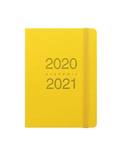Letts 2020-2021 - Agenda scolastica 'Dazzle' con vista settimanale A6 Giallo