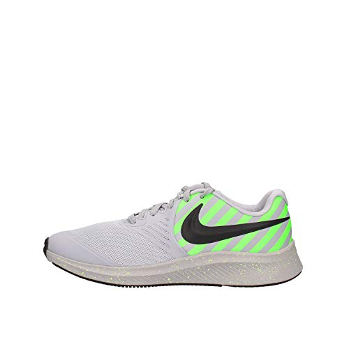 Nike Star Runner 2 Sport, Zapatillas de Trail Running Unisex Adulto, Multicolor (Wolf Grey/Black/Electric Green 2), 38.5 EU