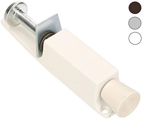 KOTARBAU® Türfeststeller Weiß Solide Türaufhalter Türstopper Stahl Rostabweisend Universal Gummi Pedal Sicherheitstechnik (Weiß)