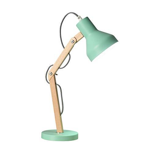 Lámparas de Mesa Lampara mesita noche Oficina Lámpara de mesa plegable dormitorio del escritorio del LED de la lámpara de lectura de aprendizaje Estudio Trabajo soporte de madera Lámpara de mesa Lámpa