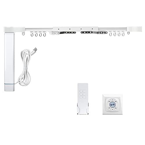 WiFi Electric Remote Control Drapery System,Curtain Motor with DIY Tracks,Alexa Google Home Control via Tuya App Timer,Slide Shade Motor compatiable with Broadlink(2.2M(85 inch))