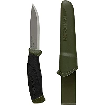 Morakniv Companion Fixed Blade Outdoor Knife with Sandvik Stainless Steel Blade, 4.1-Inch from Morakniv
