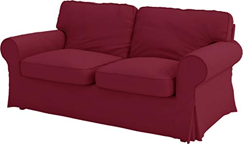 Custom Slipcover Replacement Die Ektorp Zweisitzer-Sofa-Bett-Abdeckung Ersatz ist nach Maß für IKEA Ektorp 2 Seater Sleeper allein, EIN qualitativ hochwertiges Sofa Slipcover Ersatz Weinrot