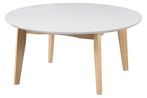 AC Design Furniture Couchtisch Ricky, B: 90 x T:90 x H: 42 cm, MDF, Weiss