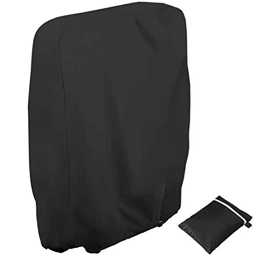 Soulpala Outdoor Folding Reclining Chair Cover, Waterproof, UV Resistant Chair Cover Black 210D Oxford Fabric Garden Furniture Protector with Storage Bag (W71×H110cm)