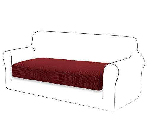 TIANSHU High Stretch Kissenbezug Sofakissen Schonbezug Möbelschutz Sofasitzbezug für Couch 1-teilige Kissenbezüge für 2 Sitzer (2 Sitzer,Weinrot)