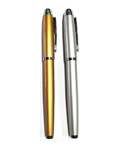 Hermoso bolígrafo (acero inoxidable) y bolígrafo de gel, recarga oleosa, el mejor regalo de bolígrafo para hombres y mujeres, oficina administrativa profesional (D