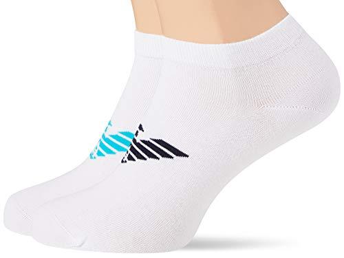 Emporio Armani Underwear Herren Bold Logo Multipack In-Shoe Socken, 100 DEN, Weiß (Bianco/Bianco/Bianco 16510), 45/46 (Herstellergröße: L)
