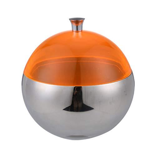 hongbanlemp Cubitera Cubo de Hielo de Acero Inoxidable esférico Cubo de Hielo Doble Mini Champagne Cubo Bartendle Herramienta Candy Candy Jar Bar Cubitera de Hielo (Color : Orange)