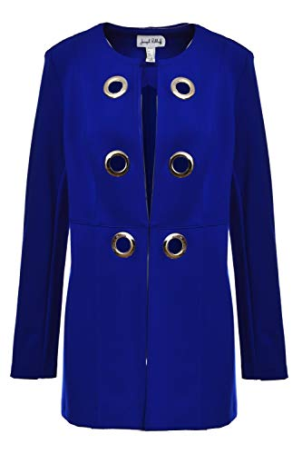 Joseph Ribkoff Saphir Royal Blue Mantel Style 191380 (Größe 48)