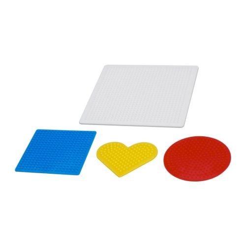 PYSSLA - Steckperlenplatte 4er-Set, versch. Farben