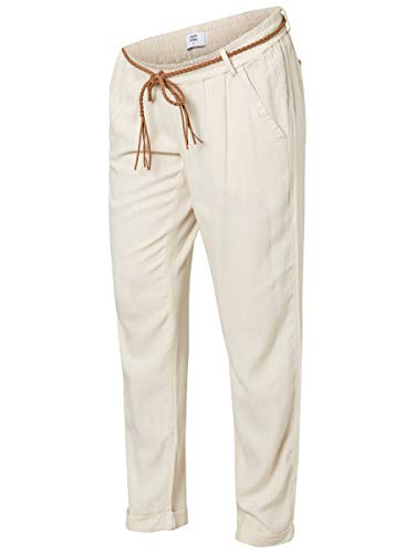 Mamalicious Mlbeach Belt Woven Pant Pantalons-Maternité, Beige (Sand Shell Sand Shell), 42 (Taille Fabricant: Large) Femme