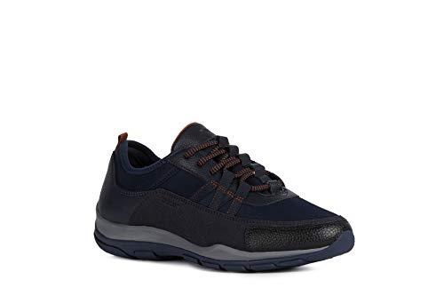 Geox Mujer Zapatos con Cordones KANDER,señora Zapatos Deportivos,Calzado,con Cordones,para Exterior,Deportivo,Removable Insole,Blau,39 EU/6...