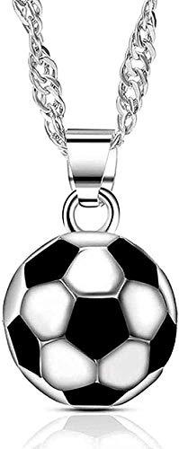LBBYMX Co.,ltd Collar de Moda para Fiesta de fútbol, Regalo de joyería, Collar de circonita para Fiesta de fútbol a la Moda, Collar con Colgante, Regalo para niñas y niños