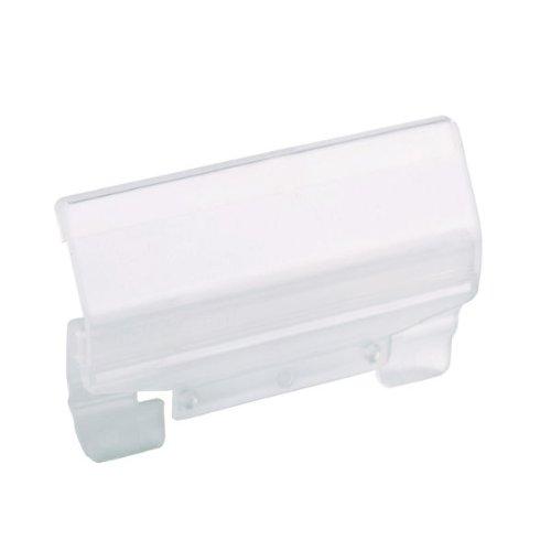 Leitz 61160003 Vollsichtreiter für ALPHA Hängeregistratur 60 mm, 4-zeilig, Kunststoff, transparent, 50 Stück