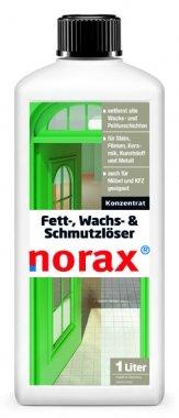 norax Fett-, Wachs & Schmutzlöser 1l - Beseitigt mühelos Schmutz, alte Pflegeschichten, Wachsrückstände und Politurrückstände, Nikotinablagerungen, Vergilbungen