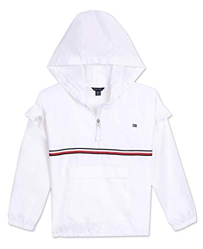 Tommy Hilfiger Big Girls' Windbreaker Jacket, White, 12/14