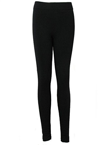Love Lola - Leggings para mujer (largo, forro polar, para, tallas: S-XL) negro negro M/L 40/42