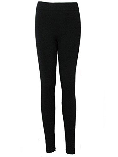 Liefde Lola Leggings Womens Hoge Taille Thermische Dikke Fleece Gevoerde Winter Leggins Zwart