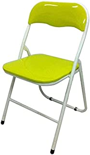 RONGJJ Silla de Escritorio portátil Silla Plegable Verde Brillante Ocio Respaldo de Camping Silla de Escritorio Soporte Lumbar abatible,