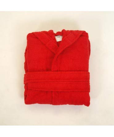 10XDIEZ Albornoz niño Clasico Rojo - Medidas Albornoces - 6