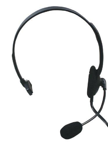 König CMP-HEADSET28 - Auriculares con micrófono para telefonia (RJ-9), Longitud del cable 2.2 m, color Negro