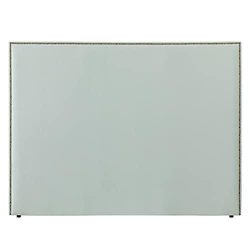 Kenay Home - Cabecero Tapizado 150 Solum, Cabezal Tapizado para Cama de 150: 160x120cm (AnchoxAlto) Menta Armani Incluye Anclajes
