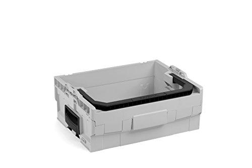 Bosch Sortimo LT-BOXX 170 in grau   Werkzeugkasten leer Kunststoff   Werkzeugkoffer leer   Idealer Werkzeugkoffer offen grau