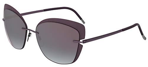 Silhouette Gafas de Sol ACCENT SHADES 8166 Violet/Violet Grey talla única mujer