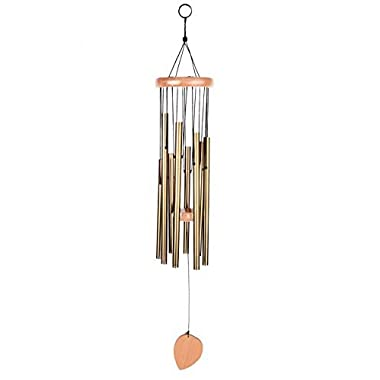 BEAUTIFUL WIND CHIMES - Tuned 28  Wood Windchimes Deliver Rich, Full, Relaxing Tones - Best Large Wooden Wind Chime For Outdoor Patio - Music To Your Ears - SATISFACTION GUARANTEE (28 , 8 tubes)