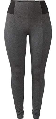 Esmara® Damen Shaping-Jeggings (grau schwarz, Gr. 50)