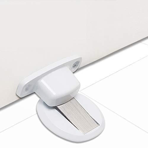 PHOEWON - Tope magnético para puerta de metal con cierre de puerta resistente con 3 m autoadhesivo, tornillos ocultos, montaje en suelo