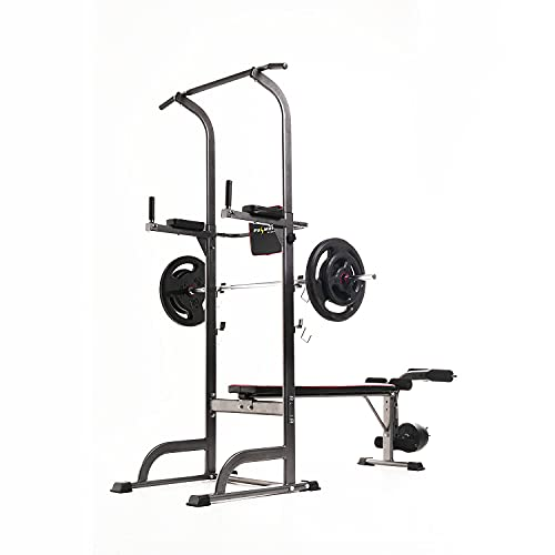Fulmen Sport Power Tower Barre de Traction Multifonction Station Musculation Dips Station Chaise...