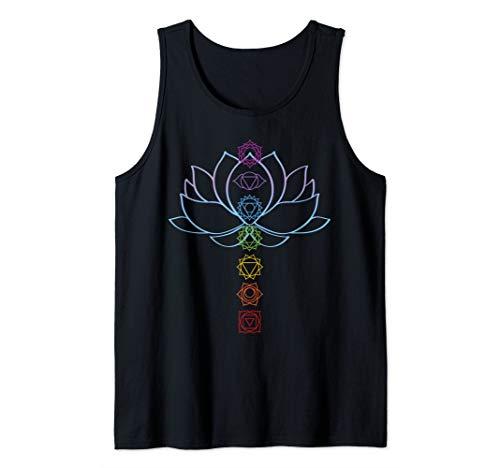 Spiritual Gift Zen Lotus Flower Chakras Aligned Yoga Lover Tank Top