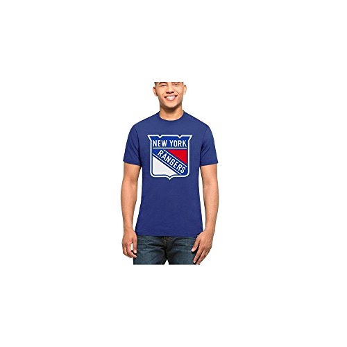 '47 NHL New York Rangers Blue Graphic T-Shirt Medium