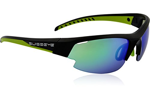 Swiss Eye Sportbrille Gardosa Re, Black Matt/Green