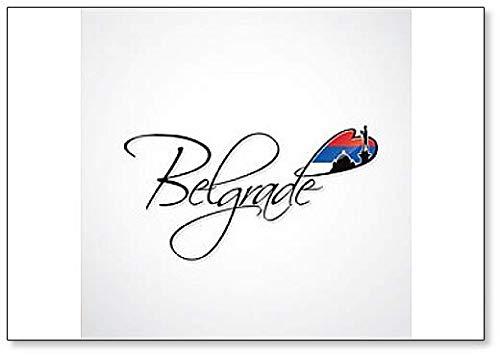 Belgrad-Schriftzug Illustration – klassischer Kühlschrankmagnet