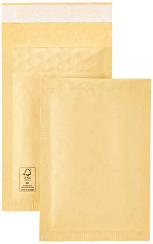 Amazon Basics Luftpolster-Versandtaschen, Gold, 100 x 165 mm, 100 Stück