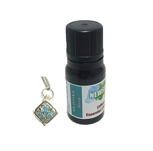 Aromatherapy Wellness Gift Necklace with Air Defense Essential Oil Blend for Her